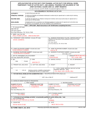 Fillable Online DA FORM 1058-R, JUL 2010 - Page 1 of 2 - ArmyMWR.com ...