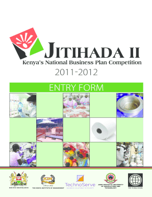 jitihada business plan competition 2012