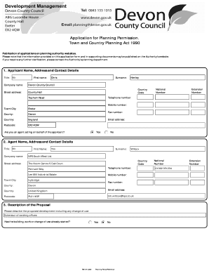 Fillable Online devon gov Applicant Name, Address and Contact