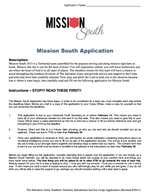application for youthdownsouth