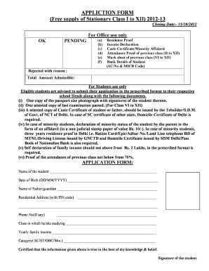 16992586 Obc Certificate Application Form Am on