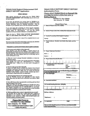 Texas Child Support Direct Deposit Fax - Fill Online, Printable ...