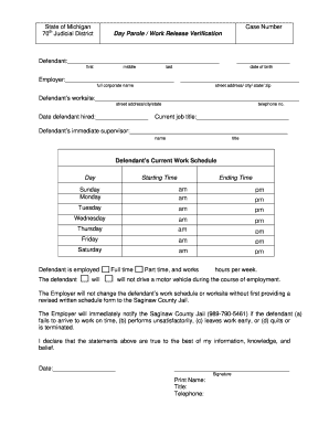 Fill Out A Work Release Form Online