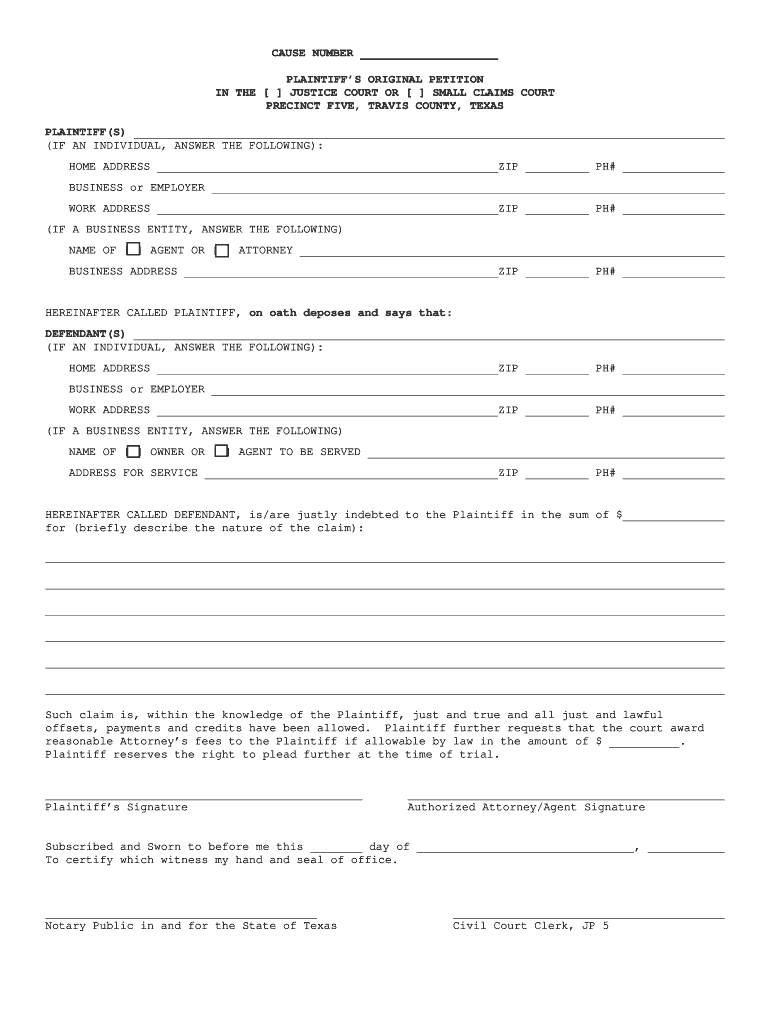 Travis County Accident Report