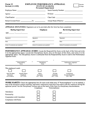 Job Performance Evaluation Form Templates - Fillable & Printable ...