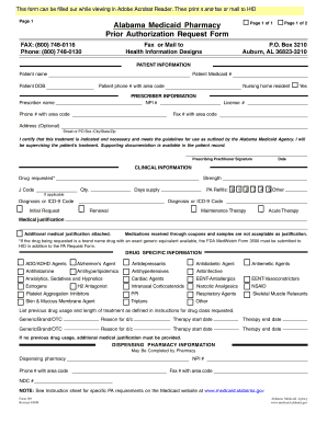 Alabama Medicaid Prior Authorization Form
