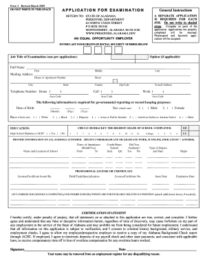 2009 Form AL Form 3 Fill Online, Printable, Fillable, Blank ...