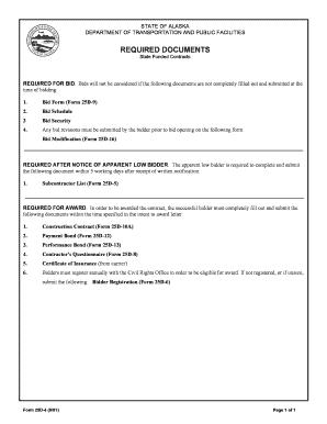 Fillable Online dot state ak SWPPP Certification for DOT&PF