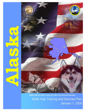 Multi-Year Training and Exercise Plan - DHS&EM - State of Alaska