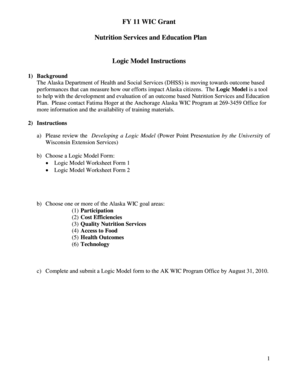 logic model template forms fillable printable samples for pdf