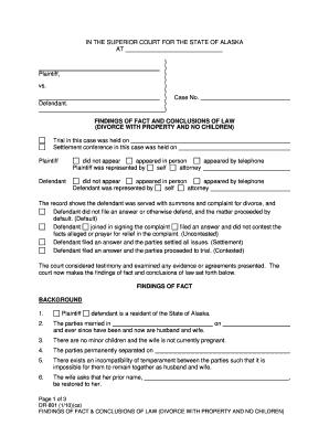 Printable alaska divorce decree - Edit, Fill Out & Download