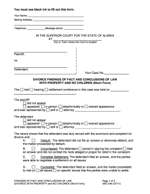 Bill Of Sale Form Alaska Divorce With Property And No Children ...