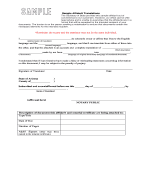 Sample Affidavit Of Documents Forms and Templates Fillable