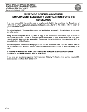 form i-9 guidelines  Fillable Online cdcr ca Employment Eligibility Verification ...