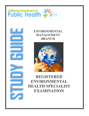 fillable online cdph ca registered environmental health specialist rh pdffiller com Environmental Air Study Phase II Environmental Study
