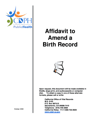Affidavit - Birth PAMPHLET (10-08) MERGED5 - California ... - cdph ca