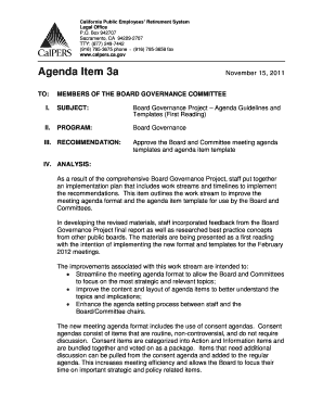 Sample board meeting agenda - SE Keyword - Website-Box.net - calpers ca