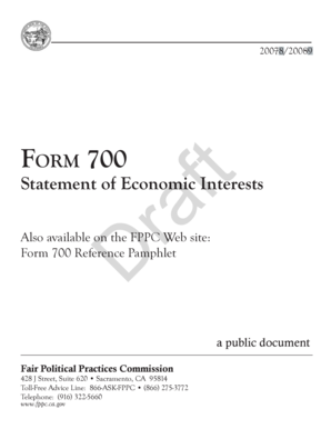 Draft Form 700 - Fair Political Practices Commission - State of ... - fppc ca