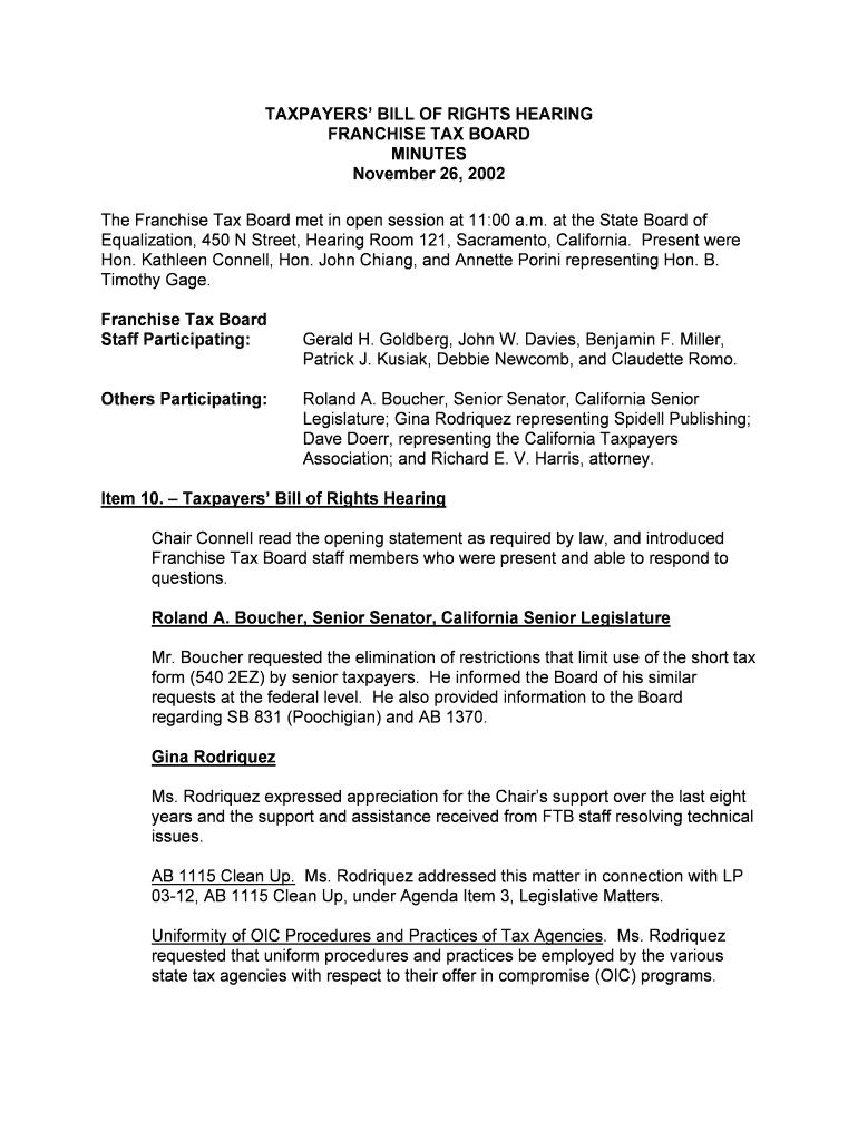 Form 540 Use Tax