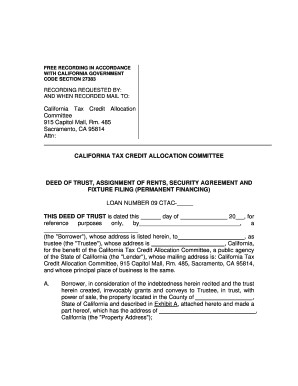 Assignment of deed of trust