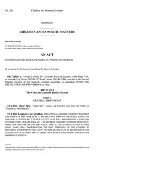 HOUSE BILL 96-1005 - state co