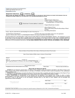 release trust form