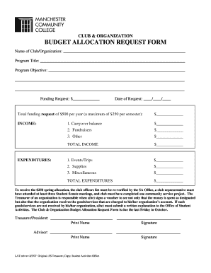 Sample Budget Request Mychildsclcampuscom Form
