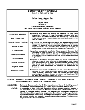 Meeting Agenda Template (BLANK FORM) - County of Maui ...