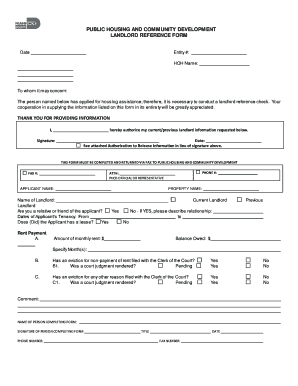 landlord reference form landlord reference form Templates - Fillable