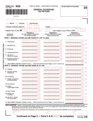 2015-2017 Form HI DoT G-45 Fill Online, Printable, Fillable, Blank ...