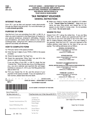 Hawaii State Tax Form Vp1 - Fill Online, Printable, Fillable ...