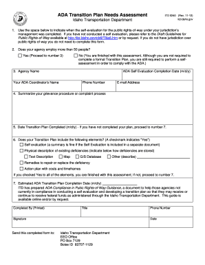 ITD ADA Transition Plan Needs Assessment Form - Idaho ...