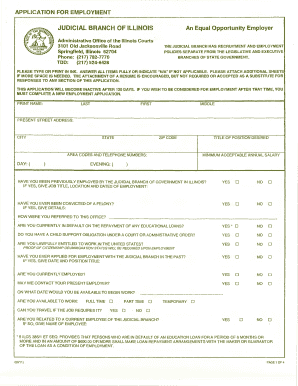 illinois judicial branch employment application form