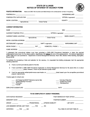 bid form