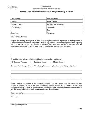 Fillable Online state il CANTS 65-A Referral Form for Medical ...