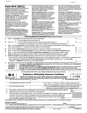 Fillable Online kansastag Form W-4 (2011) - Kansas Adjutant ...