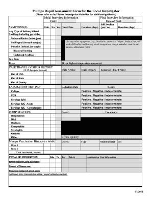 fillable online kdheks mumps rapid assessment form for the local investigator kdheks fax email. Black Bedroom Furniture Sets. Home Design Ideas