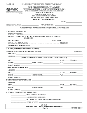 Residential permit application - Oakland County