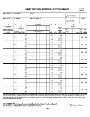 Massport weekly federal certified payroll report form (form mwh-347)
