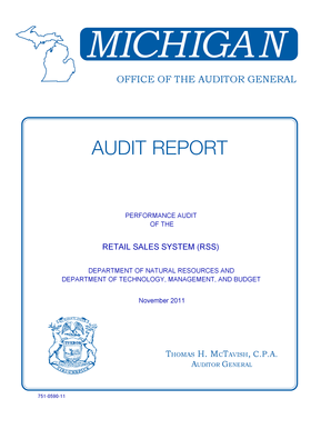 Performance Audit - Retail Sales System (RSS) - Office of the  - audgen michigan