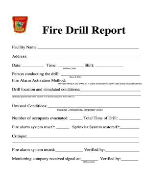 Pin school fire drills form on pinterest for Fire alarm log book template