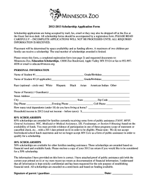 Generic Scholarship Application Template Mn - Fill Online ...