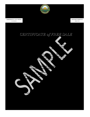 Free Sale Certificate - Fill Online, Printable, Fillable, Blank ...