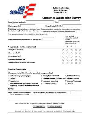 Customer Satisfaction Survey. Adobe Designer Template - wsd dli mt