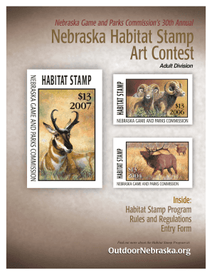 Nebraska Wildlife Habitat Stamps