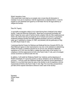 attestation letter for oklahoma healthcare authority form employee incident report sample