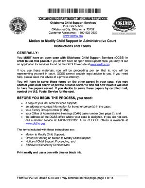 Fillable Online okdhs Form 03RA010E - Oklahoma Department of Human ...