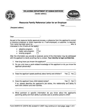 recommendation letter employer