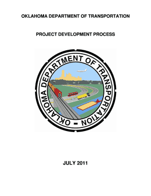 Project Development Process - Oklahoma Department of ...