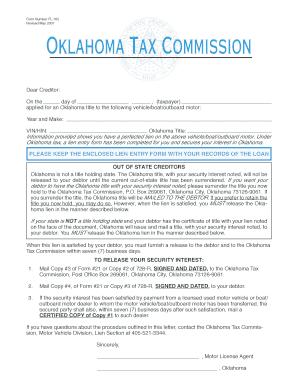 Fillable Online Tax Ok Form Fl 705 Oklahoma Tax